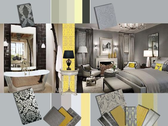 Trendy Grey & Yellow Interior Design & As A Wedding Color