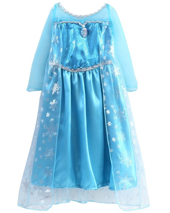 uustar prinzessin kost m karneval verkleidung party cosplay kleid anna elsa. Black Bedroom Furniture Sets. Home Design Ideas