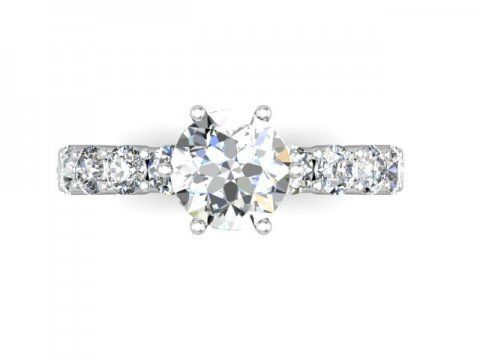Wholesale Round Engagement Ring Custom Diamond Engagement Rings Round Diamond Engagement Rings Wholesale Engagement Rings