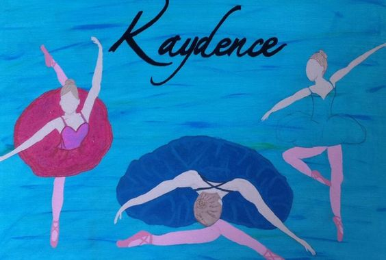 Turned a blank white canvas into a picture with ballerinas for my daughter. This pic is not the completed item, but close enough!