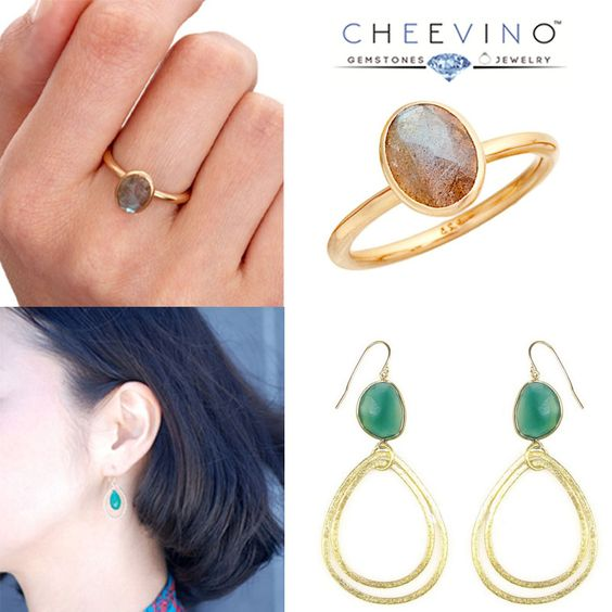 cheevinojewelsOur eye catching Green onyx Loop earring , Labradorite Ring will complete your Look :) Chalcedony Rings are also available!  #goldplatedlabradoritering #cheevinojewels #handmaderings #handmadejewelry #gemstones #fashionjewelry #wholesalejewelry #designerjewelry #goldvermeil #bijoux #jewelryamerica #chalcedony #chalcedonyearrings cheevinojewelsThanks @dunejeweley cheevinojewelsThanks @dunejewelry after a long time :) viscerajewelrylove  siammpatraVery cool! I like admiring…
