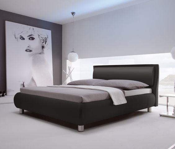 Luxuriöses Polsterbett Mit Bequemem Kopfteil. | Betten.de #kunstleder  #modern #schlafzimmer #living Http://www.betten.de/polsterbett Weiss  200x200 U2026