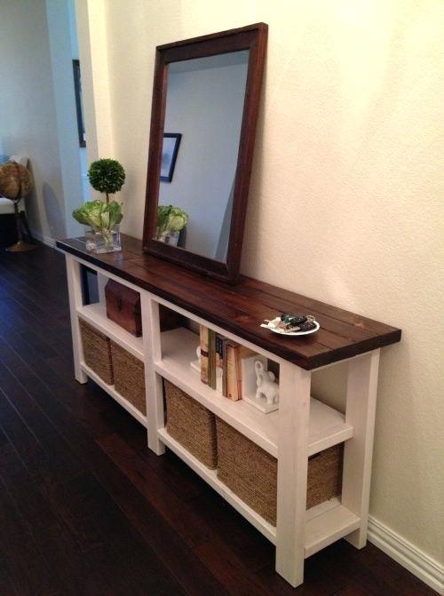 Skinny Hallway Table Narrow Entry Ideas Entryway On