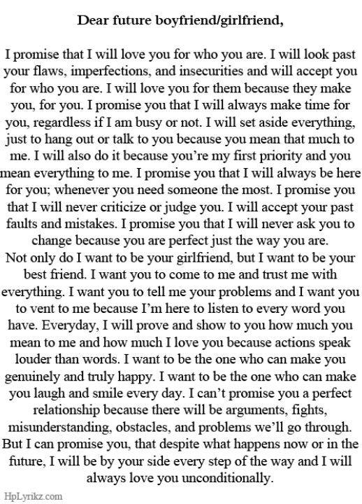 dear future boyfriend | relationships goals | Pinterest ...  Dear
