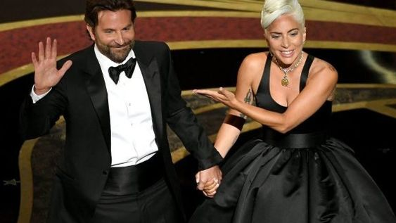 Bradley Cooper and Lady Gaga at Oscars 2019