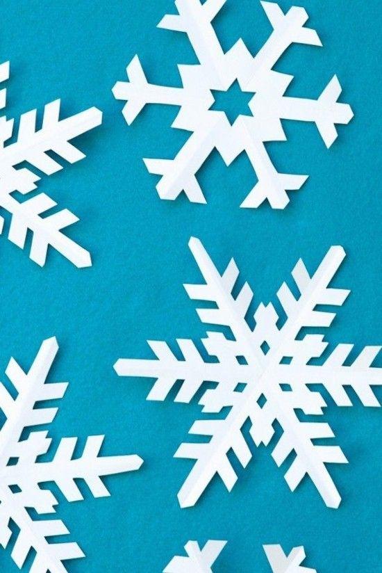 Kreative Schneeflocken Basteln 50 Einfache Ideen Für Die