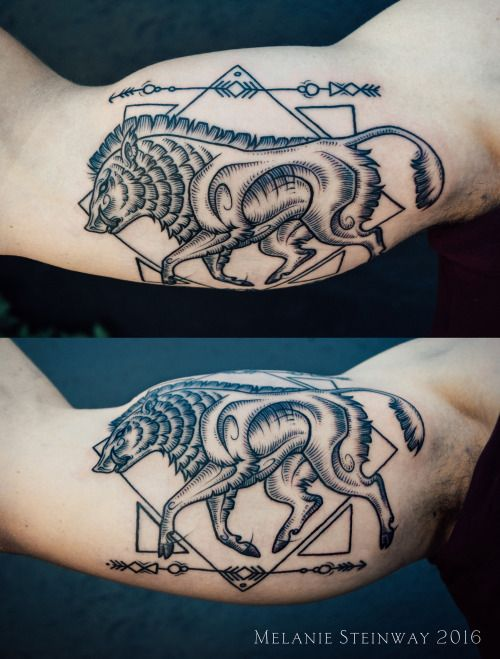 Recent boar tattoo I did :) his own personal crest of sorts. Congrats on your…