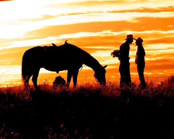 northwest silhouette | Cowboy Romance Fine Art Photography Print by WindwardGiftShop