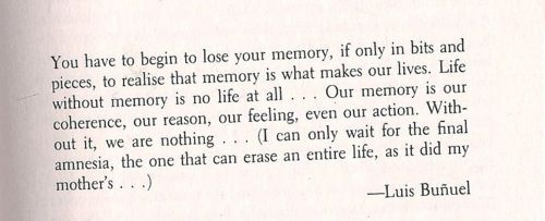 The value of memory is great indeed.