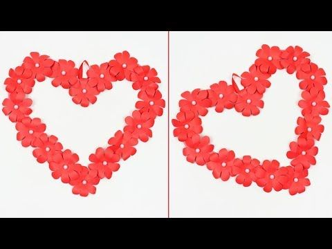 Diy How To Make Paper Heart Design Wall Hanging Room Decor Ideas Valentine S Day Crafts Ide Wall Hanging Crafts Valentine Day Crafts Valentine S Day Diy