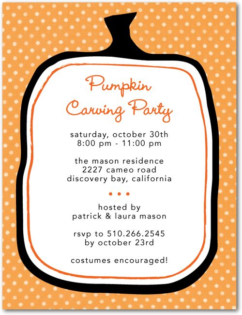 halloween pumpkin carving party invitation wording