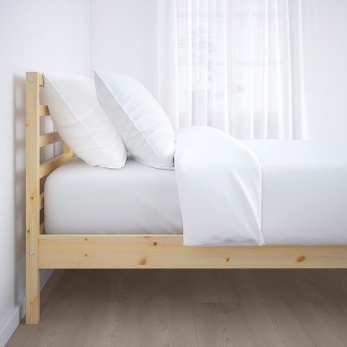 Tarva Bed Frame Pine Queen Ikea In 2020 Ikea Bed Frames Bed Frame Ikea Bed
