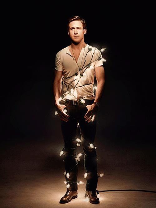 Christmas lights Ryan Gosling