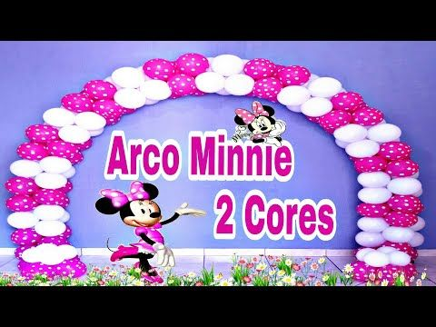 Arco De Baloes Minnie Rosa 2 Cores Canal Juju Oliveira Youtube