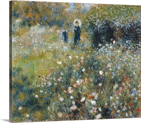 Woman With A Parasol In A Garden By Pierre Auguste Renoir In 2021 Renoir Paintings Renoir Art Pierre Auguste Renoir