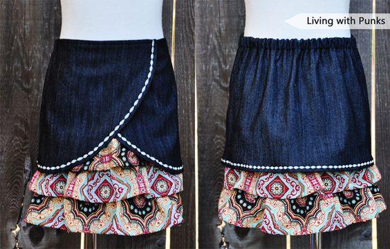 Vivienne skirt. Love the decorative stitch!
