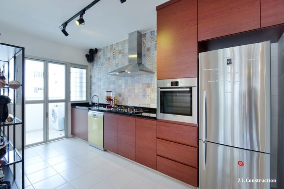 Kitchen Tiles Singapore z l construction (singapore) \ a handsome kitchen with dark wood