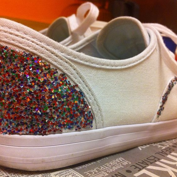 DIY Glitter Shoes for summer!