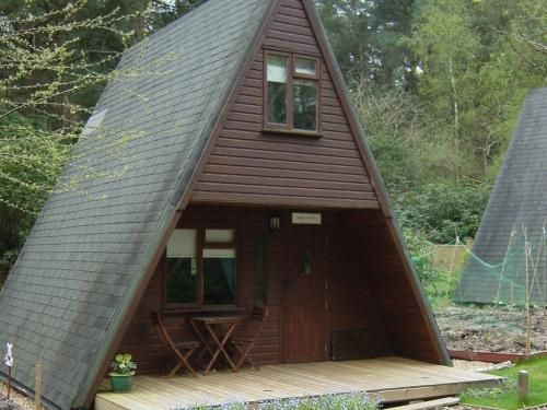 forgetmenot lodge triangle shaped cabin a frame tiny house A