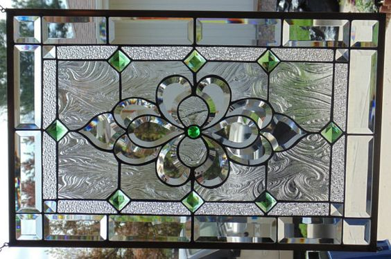 Stained glass window hanging by stevesartglass on etsy for Stained glass kitchen windows