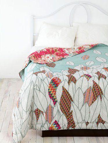 manta estampada com folhas cores