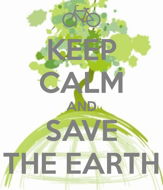 "I am tired of seeing the ""keep calm"" meme, but this one really caught my eye. It has a tree, a bicycle and a green message. Irresistible."
