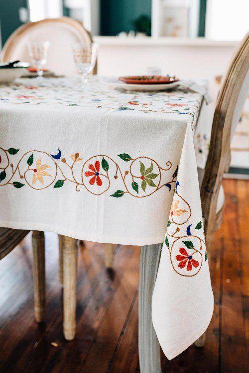 Christmas gift,cotton tablecloth great GIFT Scandinavian design White linen tablecloth