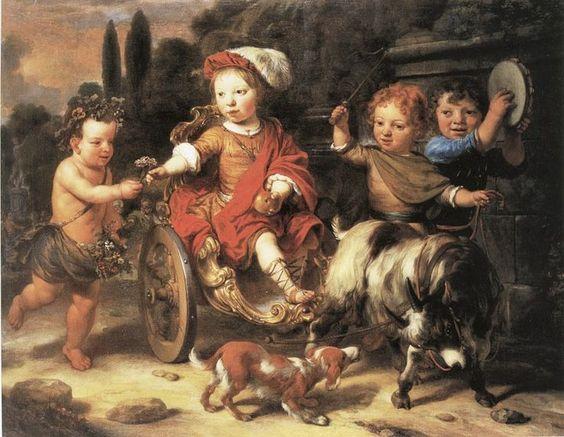 Gerbrand van den Eeckhout (Dutch artist, 1621-1674) Willem Woutersz. Oorthoorn in a Goat-Cart: