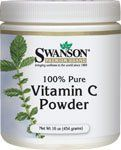 100% Pure Vitamin C Powder 16 oz (454 grams) Pwdr by Swanson Premium by Swanson Premium. $14.99. Gain more antioxidant power! Swanson Vitamin C Powder is the perfect way to get this essential vitamin for those who have trouble swallowing pills. This water-soluble vitamin dissolves easily, letting you turn almost any beverage into a powerful defense for your bodys immune system. Every cell in your body uses vitamin C! Each serving scoop provides one gram of optimal ...