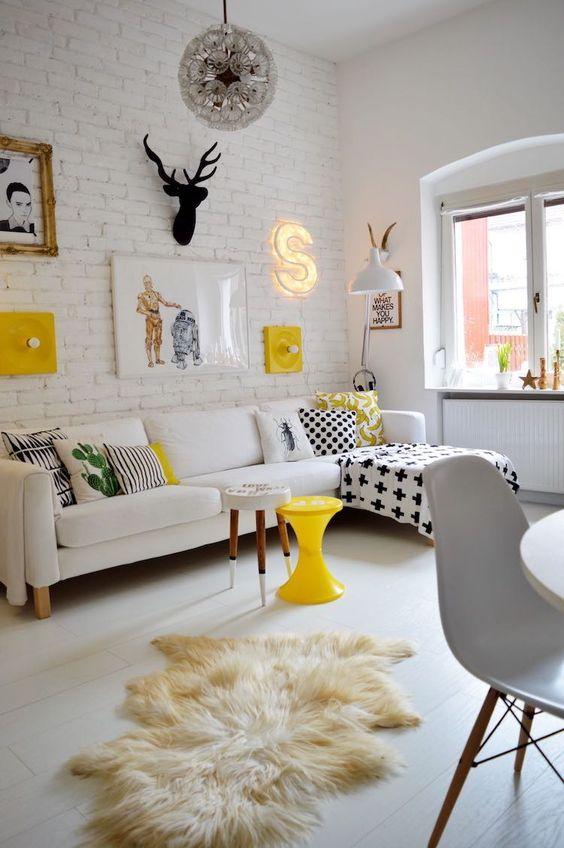 Una Pizca de Hogar: 8 salones pequeños inspiradores: