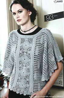 CARAMELO ARDIENTE es... LA PRINCESA DEL CROCHET: una bonita capa Crochet shirt!