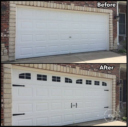 Love Carriage Garage Doors But Dont Have An Extra 5k Windows Are High Quality Vinyl Decals That You Can Easil Garage Door Kit Garage Decor Garage Door Styles