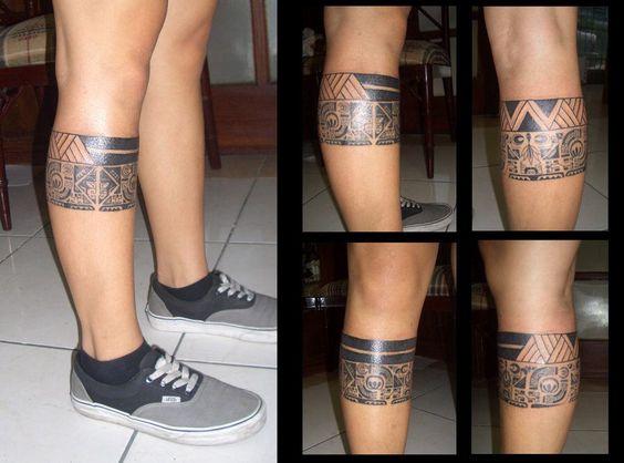 maori leg stripe tattoos pinterest streifen beine. Black Bedroom Furniture Sets. Home Design Ideas