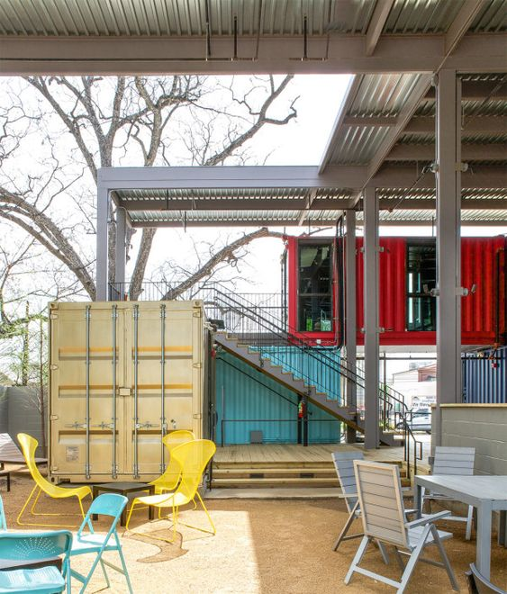 A bar built from shipping containers shipping containers and bar - Shipping container homes austin ...