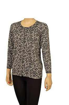 Beautiful Moselle Leopard Color Button Front Cardigan Sweater, Long Sleeve.Washing Info - Hand Wash Cold.                                                                                                                                                     More