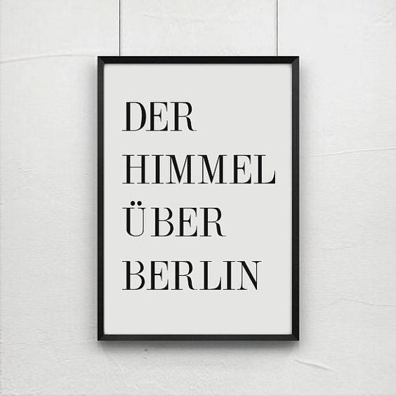 Der Himmel Über Berlin quote prints quote posters by angelaferrara, $26.00
