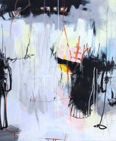 Kaffedate 120x90 Bettina Holst I 2020 Malerier Abstrakt Og Abstrakte Malerier