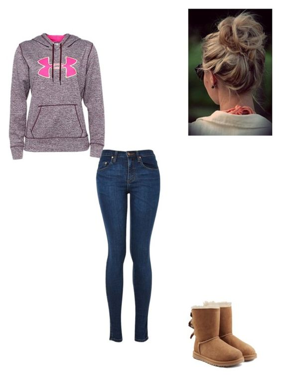 """Lazy day"" by malorilea on Polyvore featuring Under Armour and UGG Australia"