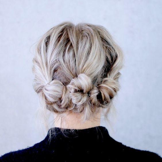 Hochsteckfrisuren Kurze Haare Trend Damen Frisuren Medium Hair Styles Easy Hairstyles Boho Updo