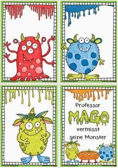Endlich Pause?!: Monster Lesekarten