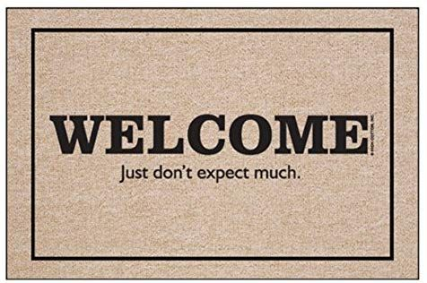 High Cotton Welcome Just Don T Expect Much Doormat Amazon Co Uk