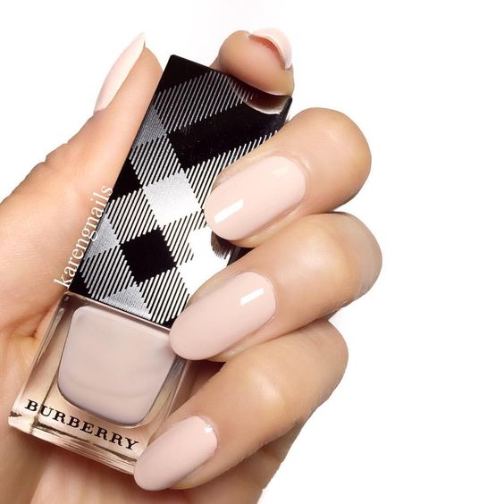 Burberry ❤️ #nails using 'Nude Beige 100' by @Burberry #nailpolish #burberry #karengnails