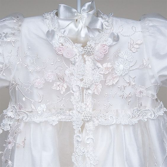 Scarlett Lace Christening Gown (Girl) | Heirloom Baptism Outfits & Dresses: