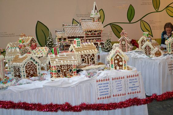 Gingerbread House Village built by Children's Cancer Hospital at MD Anderson in Houston, TX