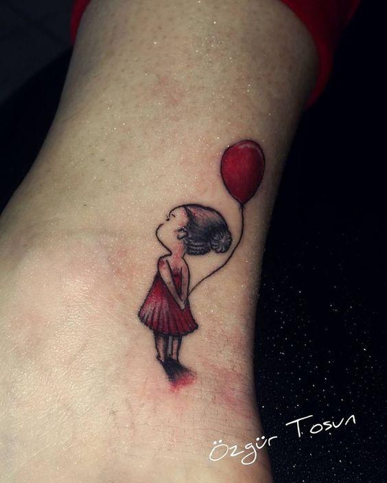 Özgür Tosun 00905393754641 zgrtattoo@hotmail... Antalya Skydream tattoo balon kız red girl madchen kırmızı tattoo dövme