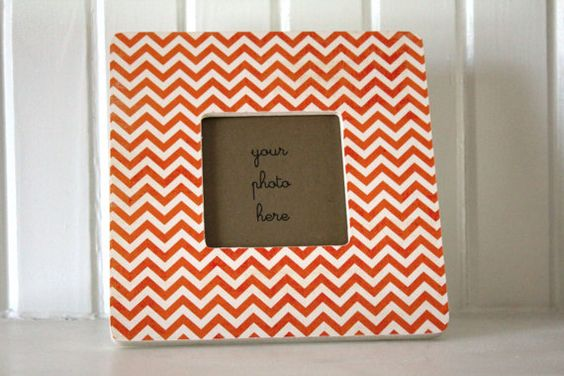 chevron picture frame!