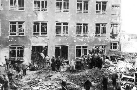 """The Coventry Blitz: 14th-15th November 1940 Coventry & Warwickshire Hospital was not a safe place for a casualties, including a captured German air-crew member, who admitted being """"very frightened"""" by the raid."""