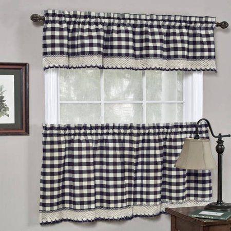 Kitchen Curtains 36 inch kitchen curtains : Gypsy Crushed Voile Ruffle Kitchen Window Curtain 24 inch, 36 inch ...