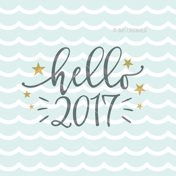 Happy New Year 2017 SVG Hello 2017 SVG Vector by SVGOriginals: