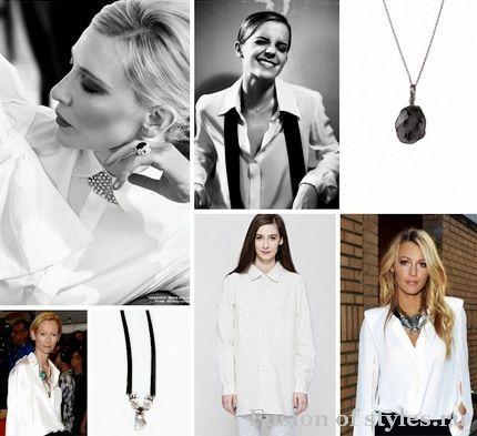 белая рубашка в женском гардеробе